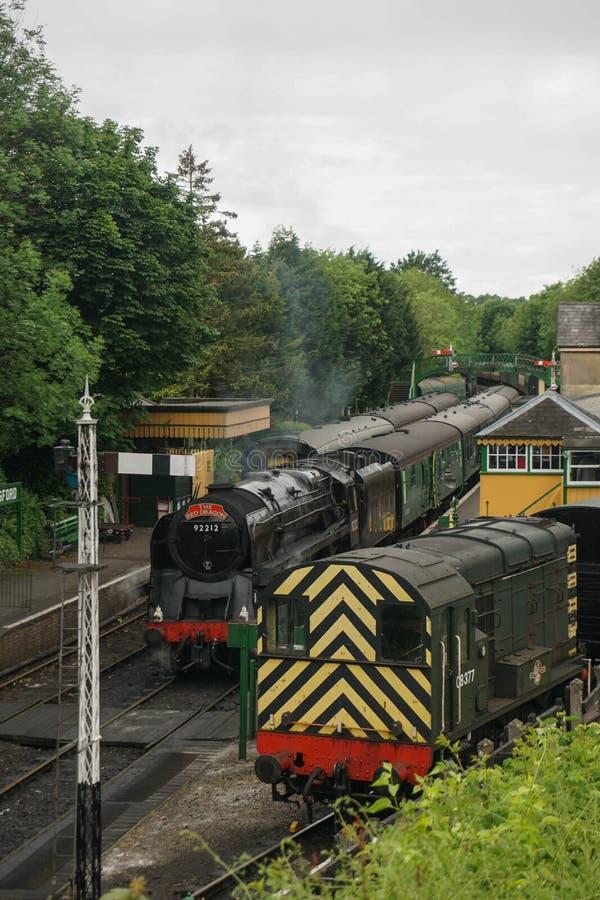 Estrada de ferro meados de do vapor de Hants imagens de stock