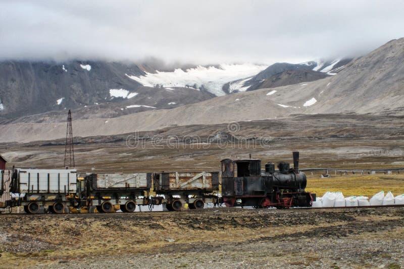 Estrada de ferro de mineração fotografia de stock