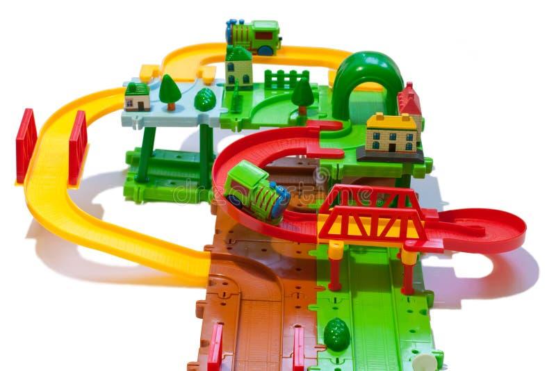 Estrada de ferro modelo imagem de stock