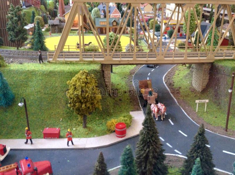 Estrada de ferro modelo foto de stock