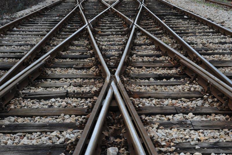Estrada de ferro na estação fotos de stock royalty free