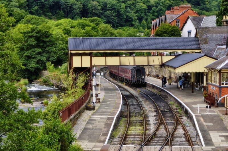 Estrada de ferro Staion de Llangollen foto de stock