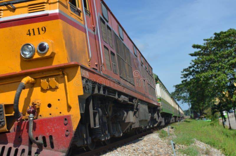 Estrada de ferro tailandesa fotografia de stock