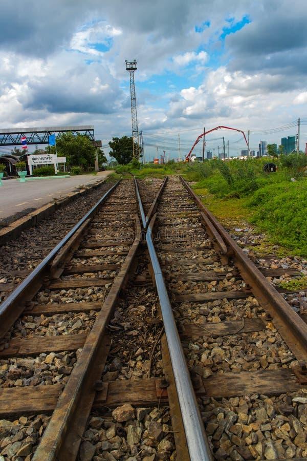 Estrada de ferro tailandesa imagens de stock