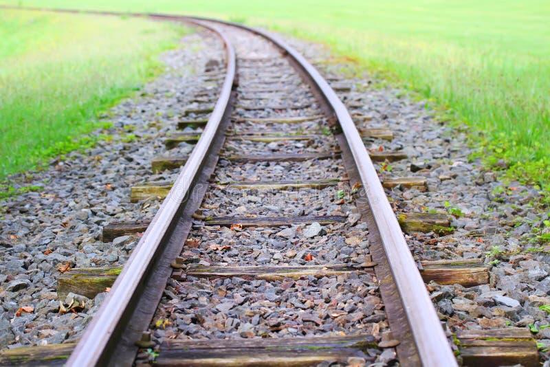 A estrada de ferro vai ao horizonte fotografia de stock royalty free