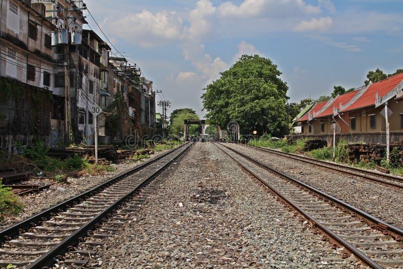 Estrada de ferro velha 2 foto de stock