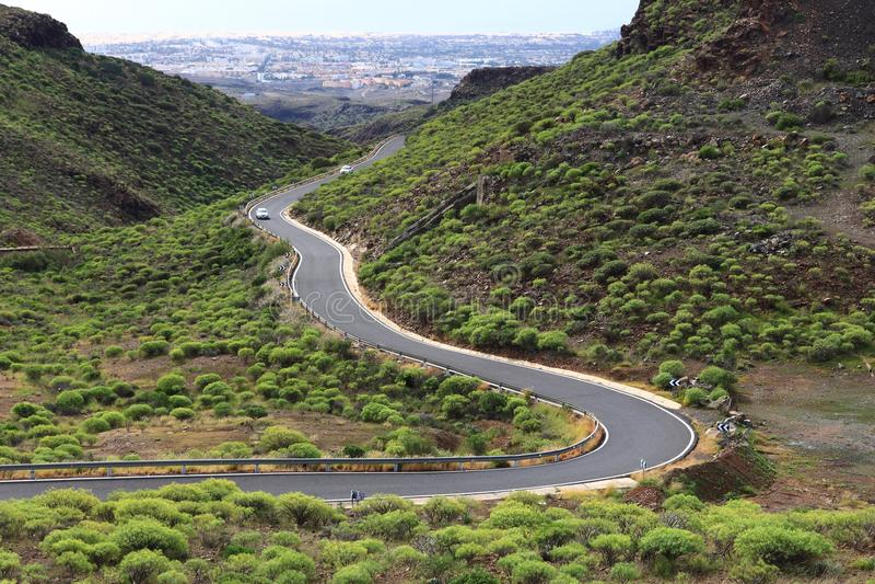 Estrada de Gran Canaria fotografia de stock royalty free