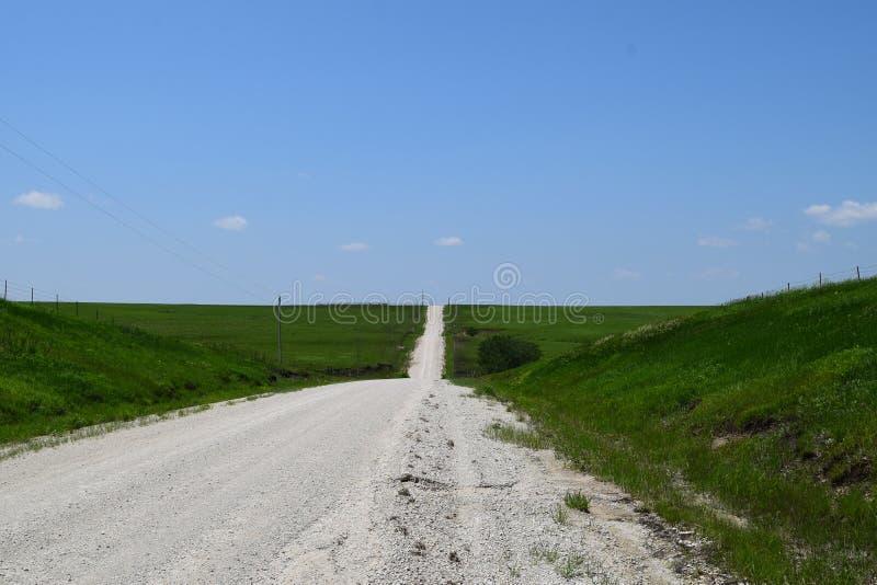 Estrada de Kansas a em algum lugar fotografia de stock