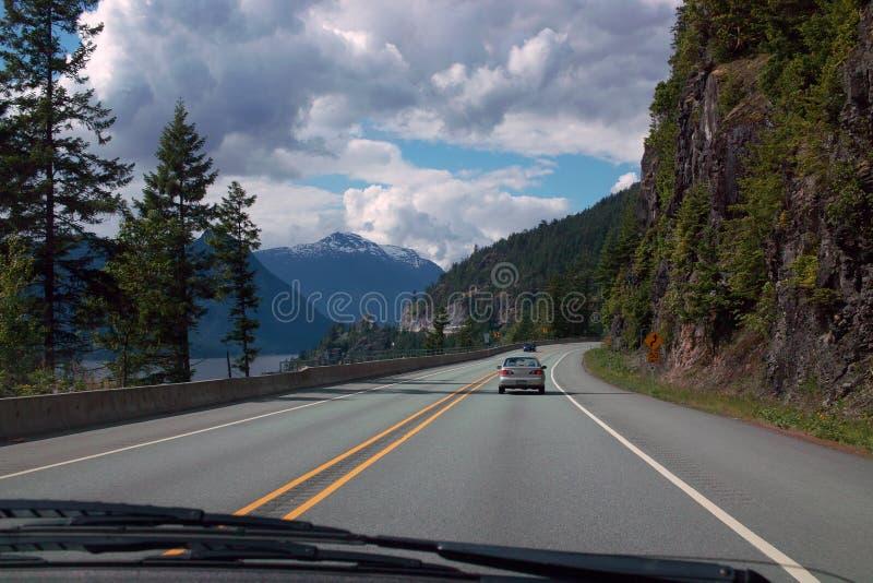 Estrada 99 de Lilloet, Columbia Britânica Canadá foto de stock royalty free