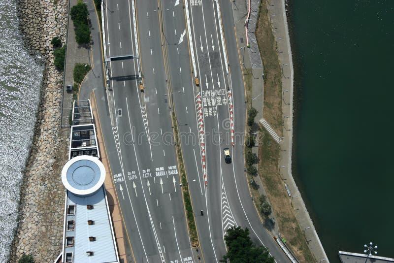 Estrada de Macau imagem de stock
