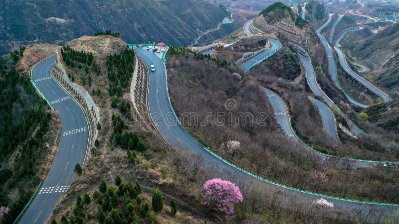 Estrada de Panshan em China imagens de stock