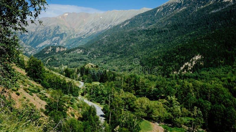 Estrada de Pyrenees fotografia de stock