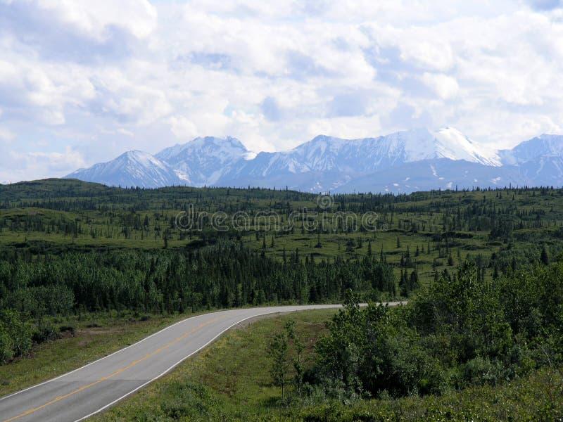 Estrada de Richardson, Alaska foto de stock royalty free