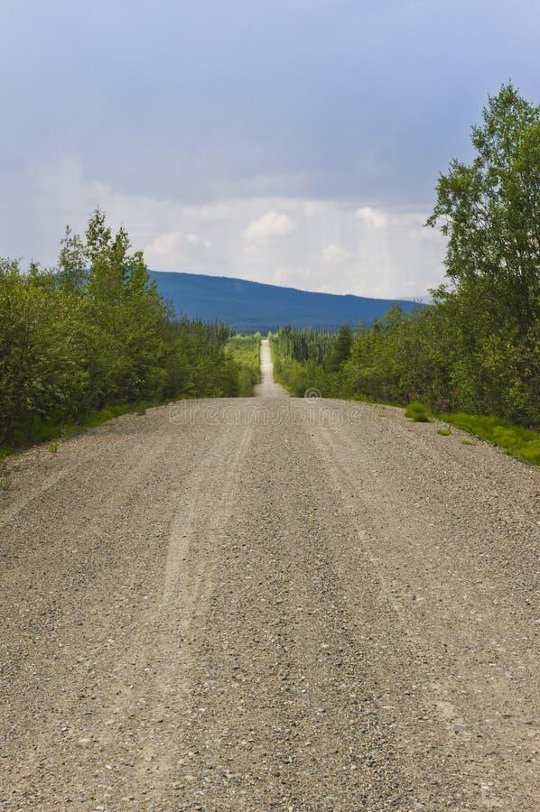 Estrada de Robert Campbell, Yukon, Canadá fotos de stock royalty free