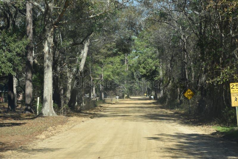 Estrada de terra bonita imagem de stock royalty free
