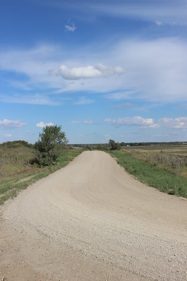 Estrada de terra nas pradarias imagem de stock