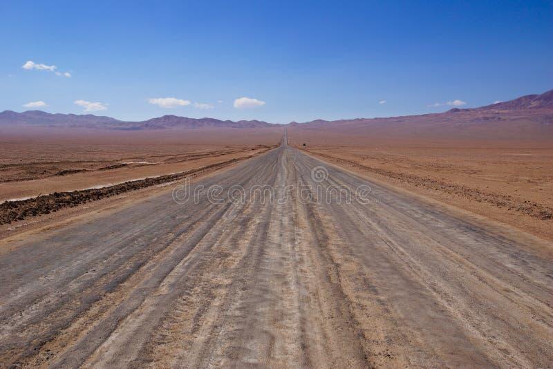 Estrada de terra no Chile imagem de stock
