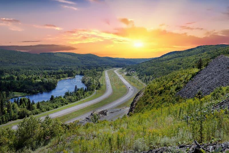 Estrada de Transporte-Canadá fotos de stock royalty free