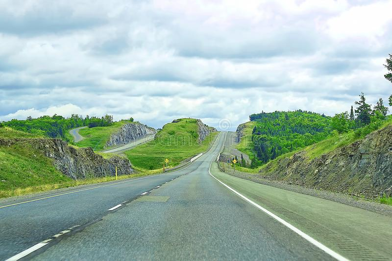 Estrada de Transporte-Canadá no Maritimes imagens de stock royalty free
