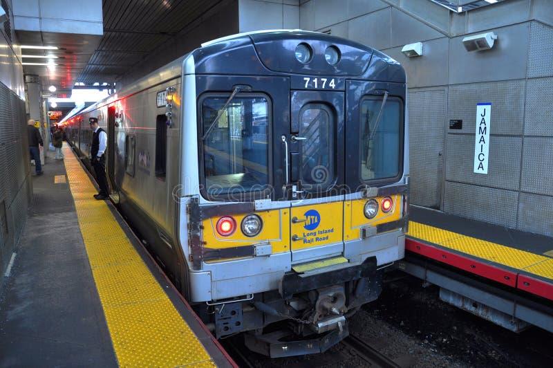 Estrada de trilho do MTA Long Island de New York City foto de stock