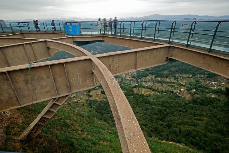 Estrada de vidro da prancha de Guangyuan China- imagem de stock royalty free
