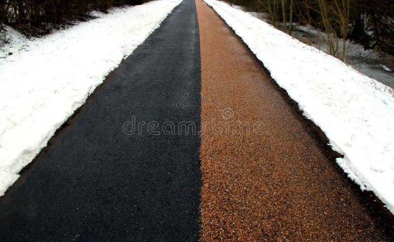 Estrada de Winther - preto e vermelho imagem de stock