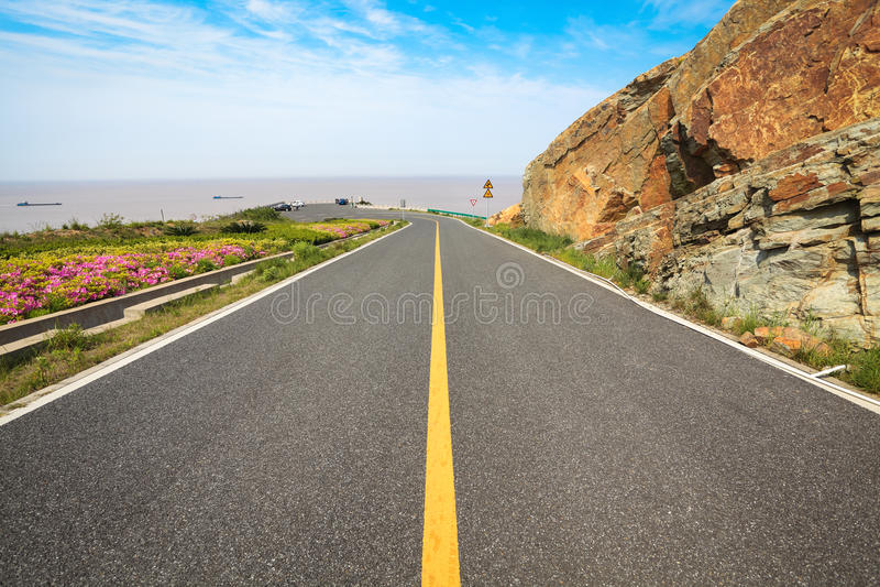 Estrada do beira-mar fotos de stock