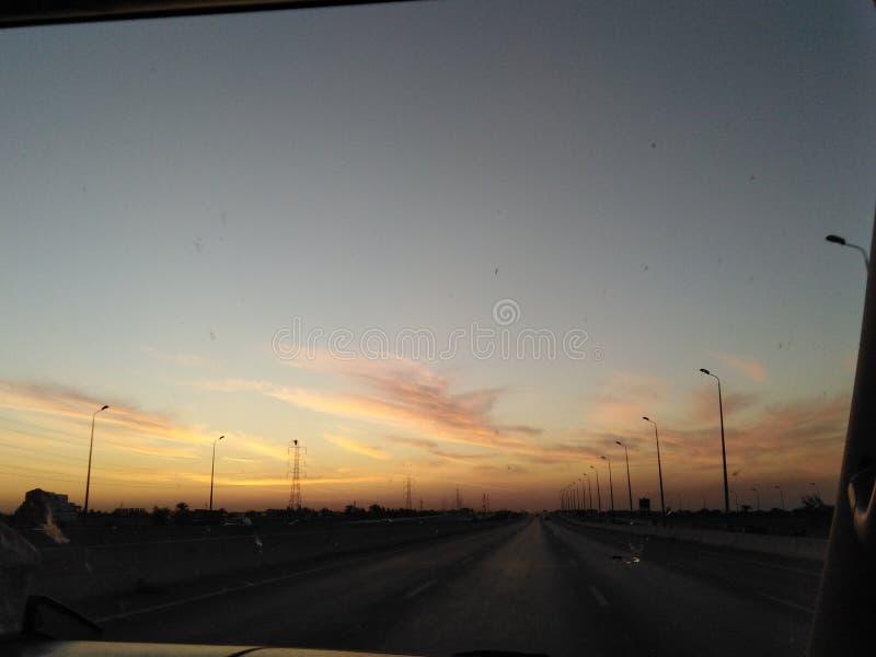 A estrada do Cairo a Alexandria, Egito foto de stock