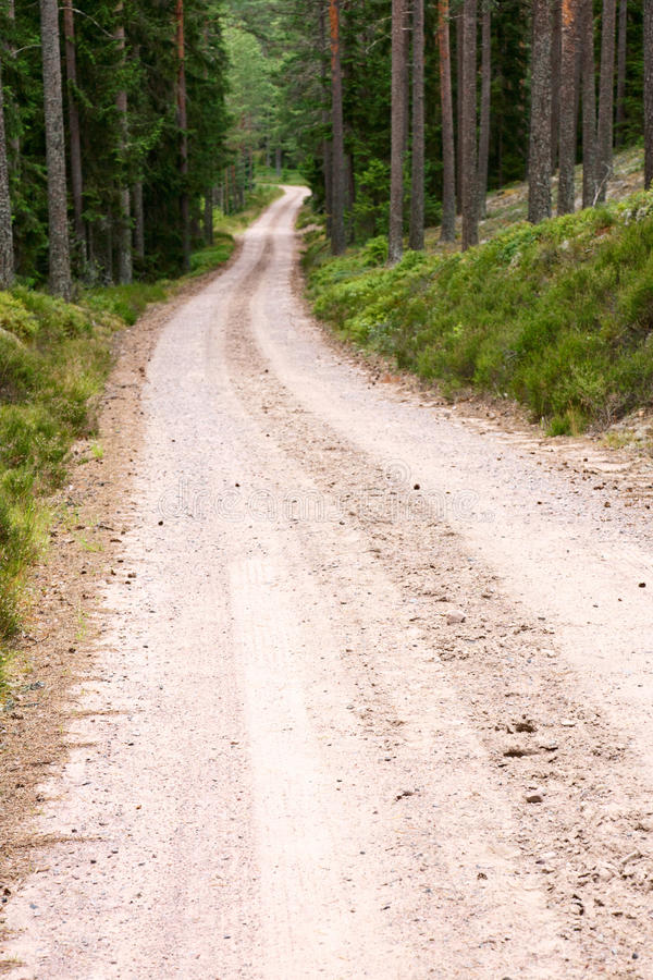 Estrada do cascalho foto de stock royalty free