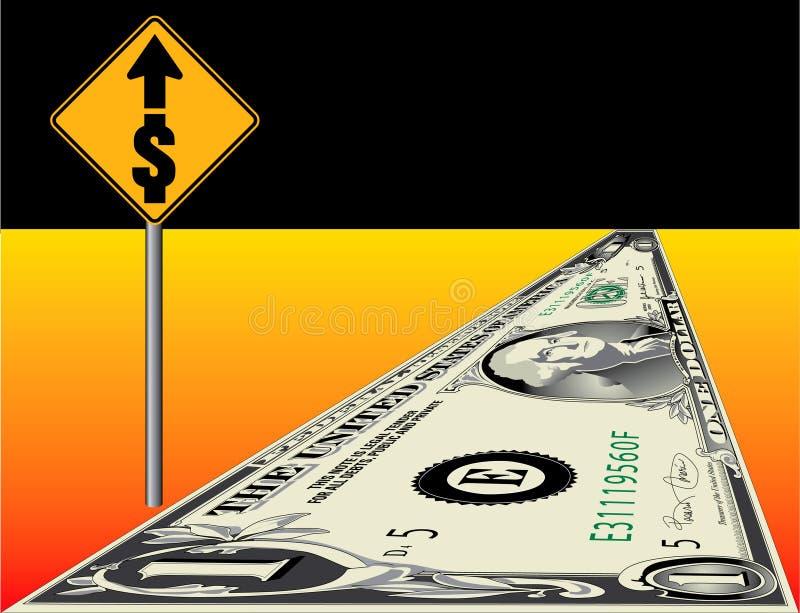 Estrada do dólar ilustração do vetor