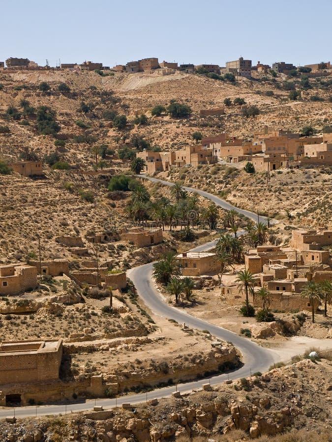 A estrada do deserto imagens de stock