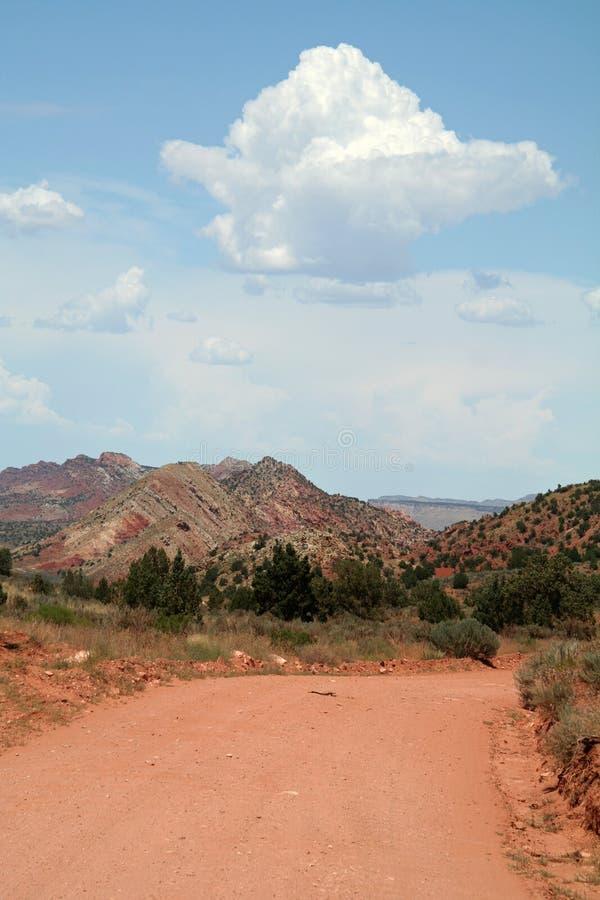 Estrada do deserto imagem de stock