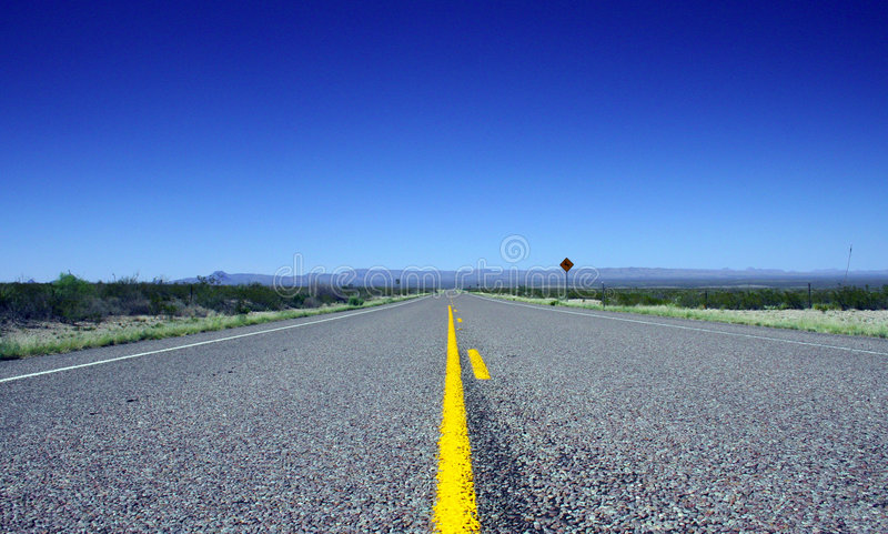 Estrada do deserto fotos de stock
