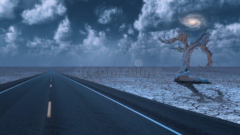 Estrada do deserto ilustração royalty free