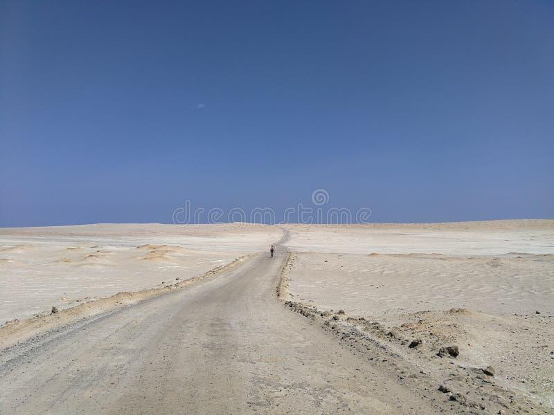 Estrada do deserto de Paracas fotos de stock royalty free
