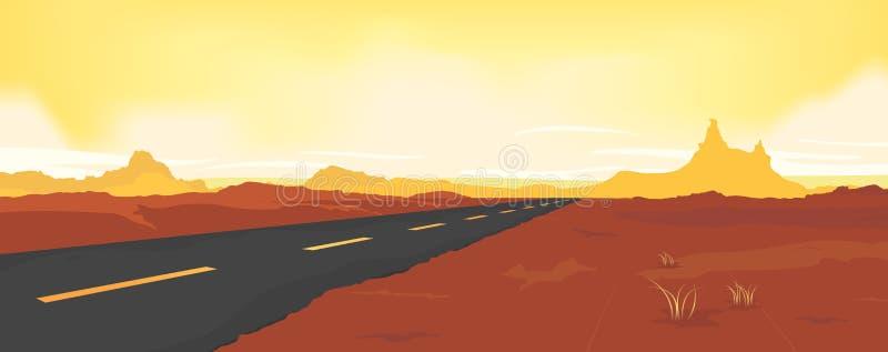 Estrada do deserto do verão ilustração stock