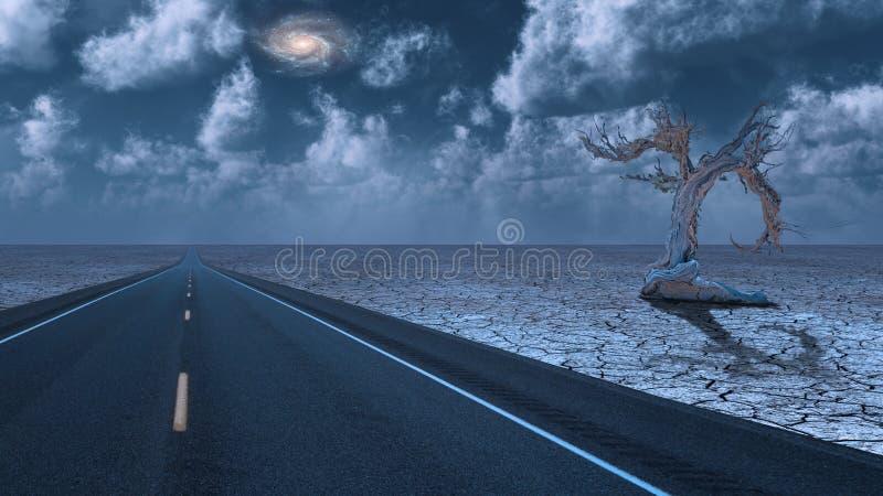 Estrada do deserto ilustração stock