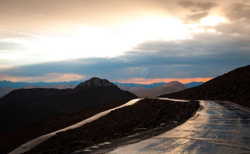 Estrada do Mt Evans imagem de stock