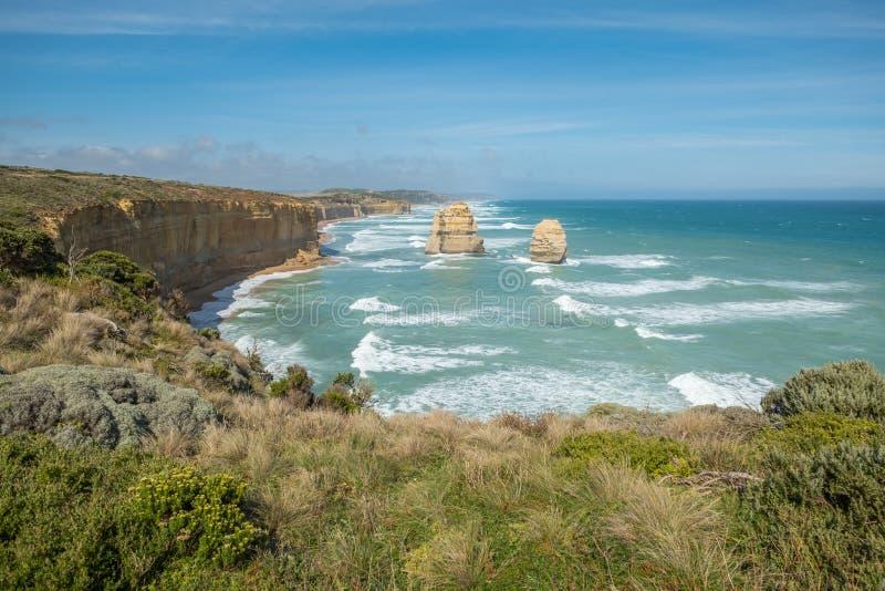 Estrada do oceano de Austrália grande: Os doze apóstolos foto de stock
