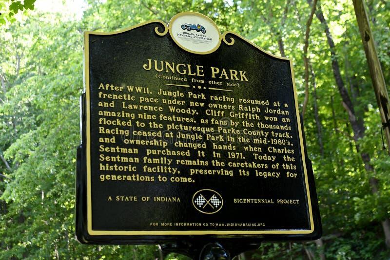 Estrada do parque da selva o 6 de junho de 2017 imagens de stock royalty free
