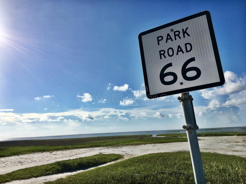 Estrada 66 do parque, Galveston, Texas fotos de stock