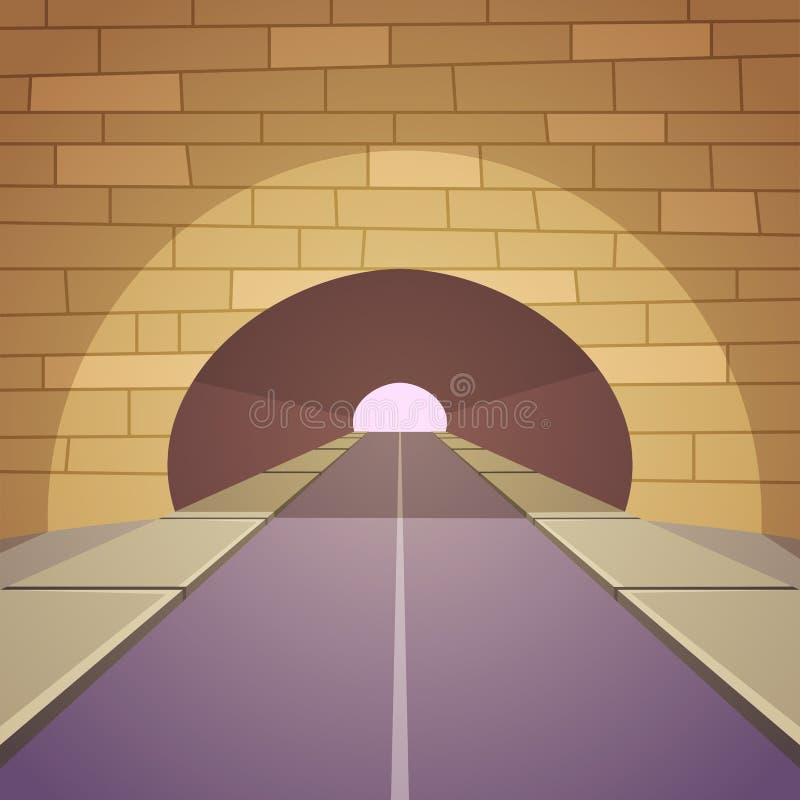 Estrada do túnel ilustração do vetor