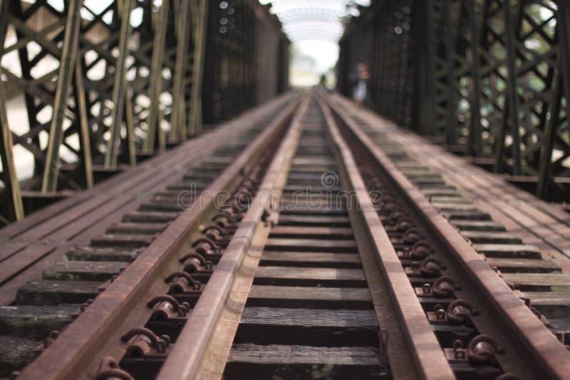 Estrada do trem foto de stock royalty free