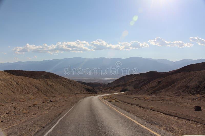 Estrada do Vale da Morte imagem de stock