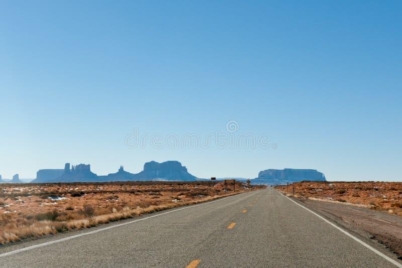 Estrada do vale do monumento fotografia de stock
