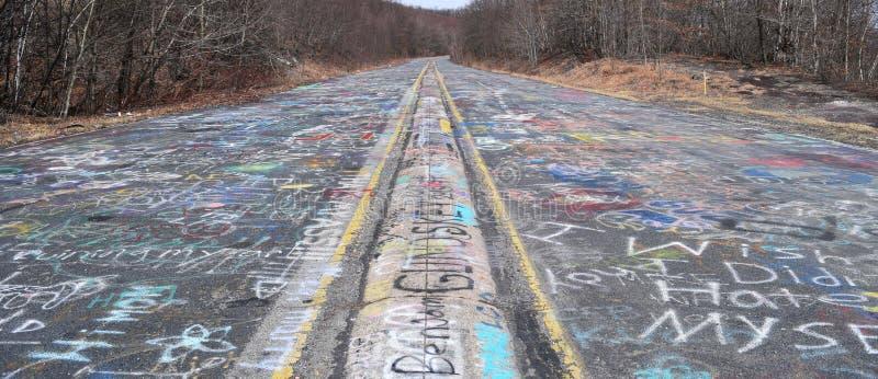 Estrada dos grafittis foto de stock