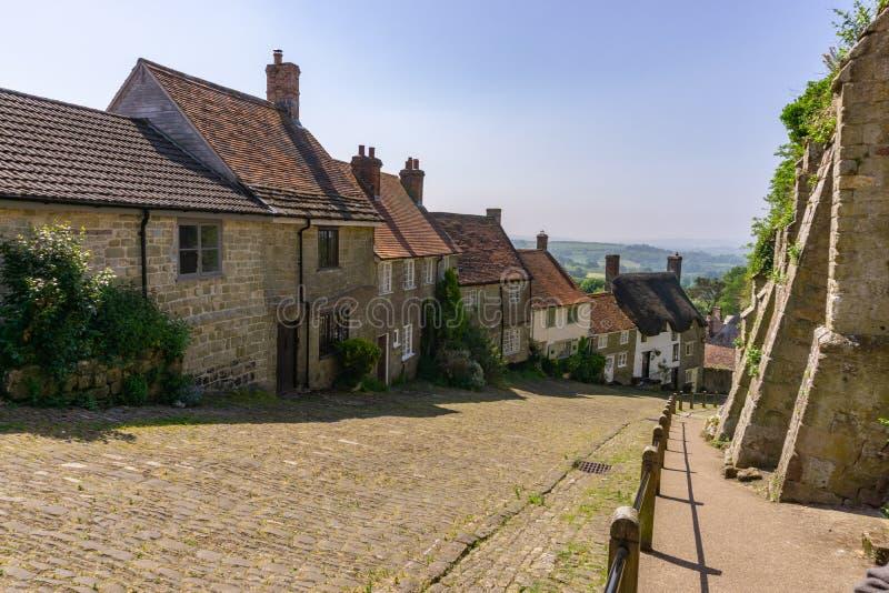 Estrada dourada do monte, Dorset Inglaterra, Europa imagem de stock royalty free