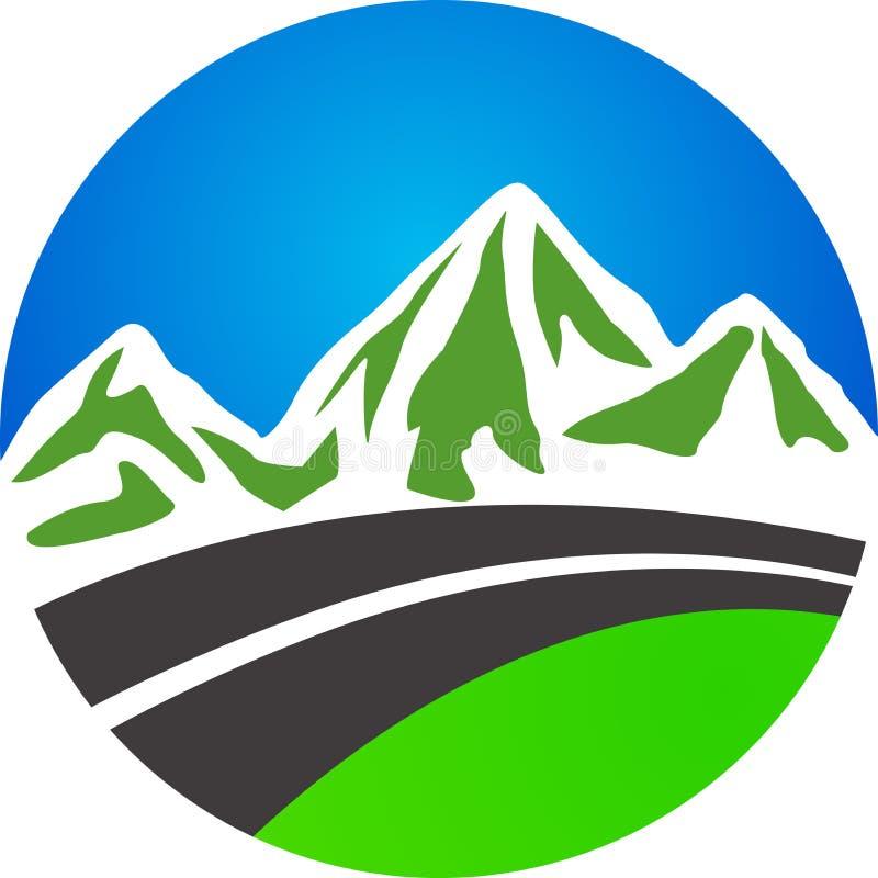 Estrada e montanha ilustração royalty free