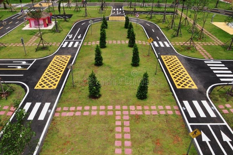 Estrada e símbolo do tráfego foto de stock royalty free