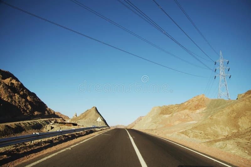 Estrada egípcia imagem de stock royalty free